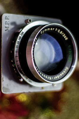 Vintage Old Lens Symmar Mpp Bokeh Background Original