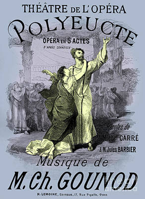 Drawing - Vintage Opera Poster For Polyeucte by French School