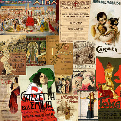 Photograph - Vintage Opera Posters by Andrew Fare