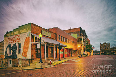 Photograph - Vintage Photograph Of General Mercantile And Oldtime Spring Shop In Downtown Nacogdoches - Texas  by Silvio Ligutti