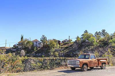 Photograph - Vintage Pickup Truck Jerome Arizona by Edward Fielding