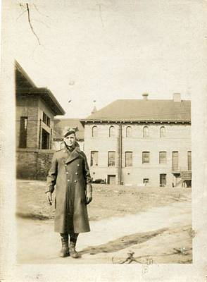 Painting - Vintage Portrait Photos 1890 - 1945 - Lone Soldier 306 by Celestial Images