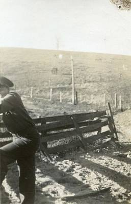 Painting - Vintage Portrait Photos 1890 - 1945 - Officer Looking Over The Fence 302 by Celestial Images