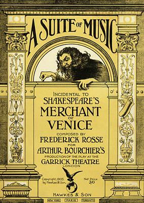 Painting - Vintage Poster For The Merchant Of Venice by English School