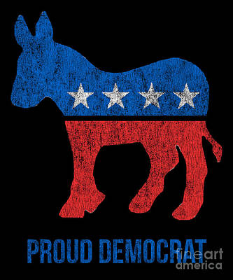 Digital Art - Vintage Proud Democrat by Flippin Sweet Gear