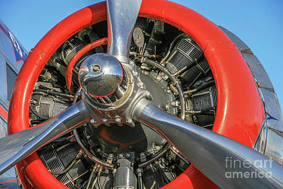 Photograph - Vintage Radial Engine by Tom Claud