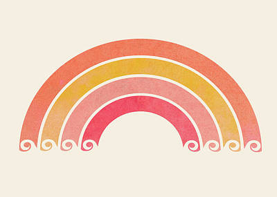 Kristian Gallagher Royalty-Free and Rights-Managed Images - Vintage Rainbow by Kristian Gallagher