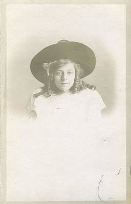 Painting - Vintage Real Photo Postcard Rppc 1850 - 1920 - Portrait Of Forgotten Faces 008 by Celestial Images