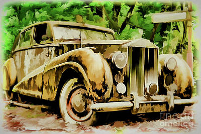 Painting - Vintage Rolls Royce A18-77 by Ray Shrewsberry