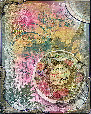 Digital Art - Vintage Rose Soap by Linda Carruth