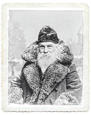 Photograph - Vintage Santa Claus Deckled by Edward Fielding