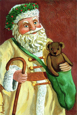 Painting - Vintage Santa by Linda Apple