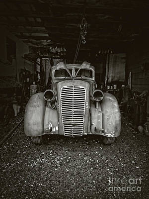 Photograph - Vintage Service Station Jerome Arizona by Edward Fielding