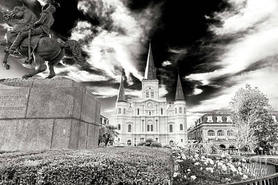 Photograph - Vintage St. Louis Cathedral New Orlean by John Rizzuto