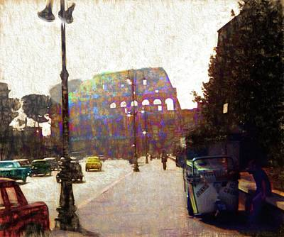 Photograph - Vintage Travel Down The Street From The Colosseum by Cindy Boyd
