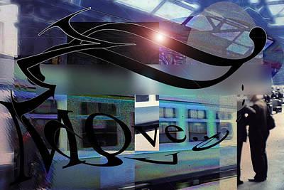 Digital Art - Vintage Travel Love To Take The Train by Cindy Boyd