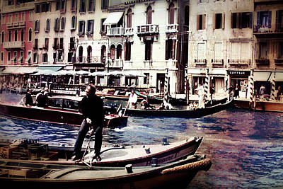 Photograph - Vintage Travel On A Venice Canal by Cindy Boyd