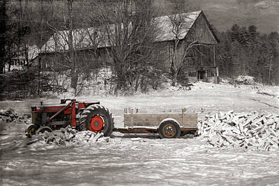 Photograph - Vintage Vermont Tractor On The Farm by Jeff Folger