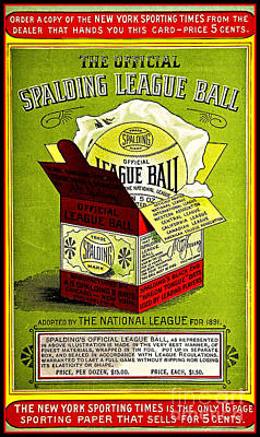 Painting - Vintage Victorian Spalding National League Baseball Advertisement  by Unknown
