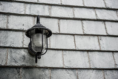 Photograph - Vintage Wall Light by Helen Northcott