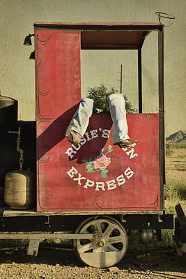 Photograph - Vintage Wild West Sign, Arizona by Tatiana Travelways