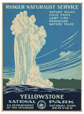 Venice Beach Bungalow - Vintage Yellowstone Travel Poster by Ricky Barnard
