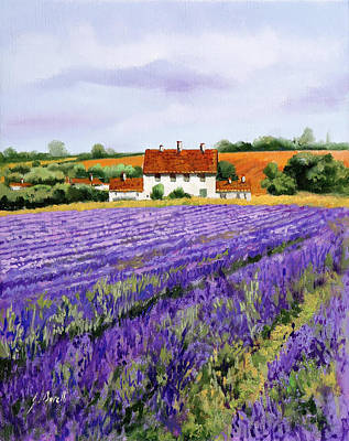 Curated Round Beach Towels - Viola Lavanda by Guido Borelli