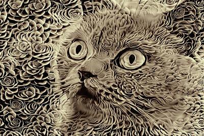 Digital Art - Violet - Neutral Version by Peggy Collins