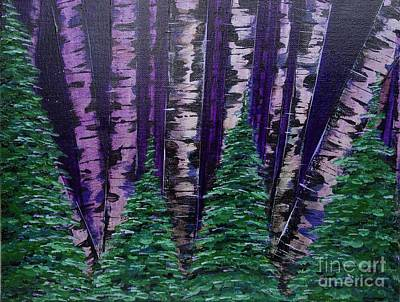 Painting - Violet Night by Jacqueline Athmann