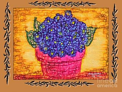 Mixed Media - Violets Are  Blue  by MaryLee Parker