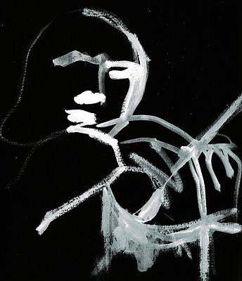 Digital Art - Violin Player 1b by Artist Dot