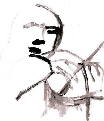 Digital Art - Violin Player 1c by Artist Dot