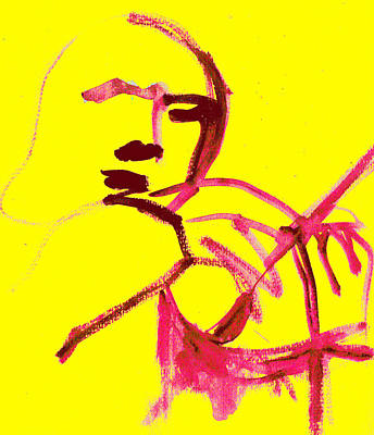 Digital Art - Violin Player 1d by Artist Dot
