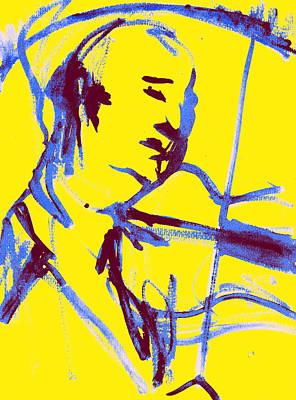 Digital Art - Violin Player 2d by Artist Dot