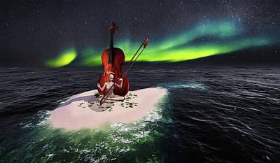 Digital Art - Violin player by Mihaela Pater
