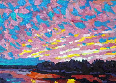 Painting - Virga Singleton Sunset by Phil Chadwick