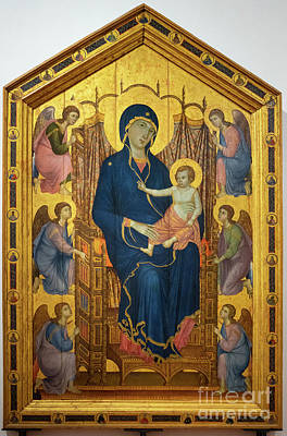 Photograph - Virgin And Child Enthroned Surrounded By Angels Rucellai Madonna By Duccio Di Buoninsegna Uffizi by Wayne Moran
