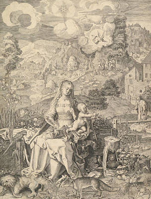 Relief - Virgin And Child In A Landscape by Aegidius Sadeler