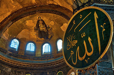 Photograph - Virgin And Child In Hagia Sophia by Fabrizio Troiani