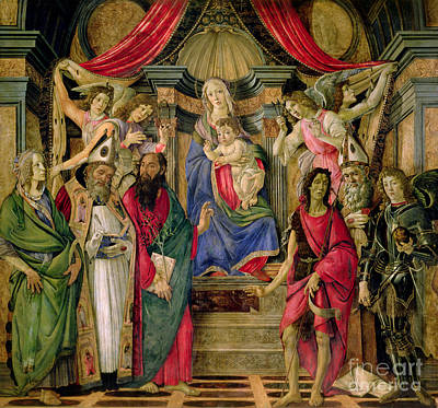 Painting - Virgin And Child With Saints From The Altarpiece Of San Barnabas, by Sandro Botticelli