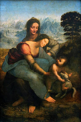 Painting - Virgin And Child With St Anne By by Superstock