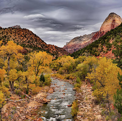 Virgin River Fall Art Print by Leland D Howard