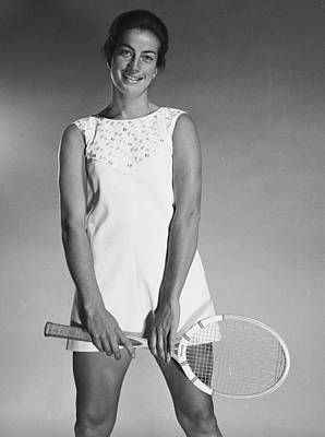 Photograph - Virginia Wade by Chaloner Woods