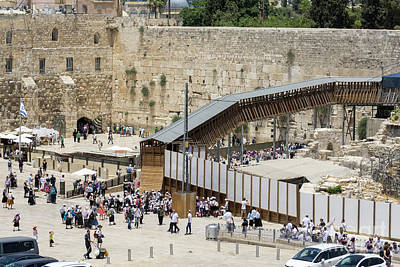 Photograph - Visitors At The Western Wall In The Jewish Quarter Of The Old Ci by William Kuta