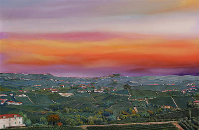 Coffee Signs - Vista Da Castiglione Falletto by Guido Borelli