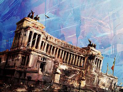 Surrealism Digital Art - Vittoriano Twilight by Andrea Gatti