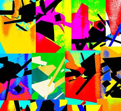 Digital Art - Vivid Abstract Art Collage by Artist Dot