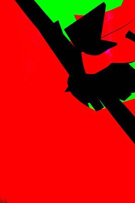 Digital Art - Vivid Abstract Red Art 50 by Artist Dot