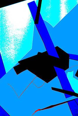 Digital Art - Vivid Blue Abstract Art 19 by Artist Dot