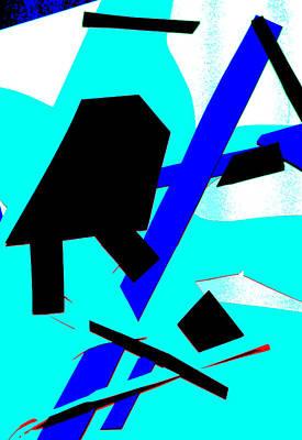 Digital Art - Vivid Blue Abstract Art 30 by Artist Dot